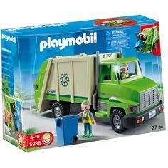 Playmobil Green Recycling Truck Playset - 5938