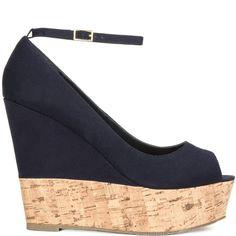 Kerry heels Navy brand heels JustFab |Heels|