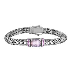 MSRP: $699.99  Our Price: $499.99  Savings: $200.00    Item Number: PGCX939-0750  Availability: Usually Ships in 5 Business Days    PRODUCT DESCRIPTION:    Designed by Phillip Gabriel and expertly handcrafted in Fine Sterling Silver, this bracelet features an intricately hand-woven design with Rose Quartz trimmed in Pink Sapphires. Each bracelet requires a tremendous amount of time and craftsmanship to create.    FEATURES:    Crafted in Fine Sterling Silver  Designed By Phillip Gavriel…