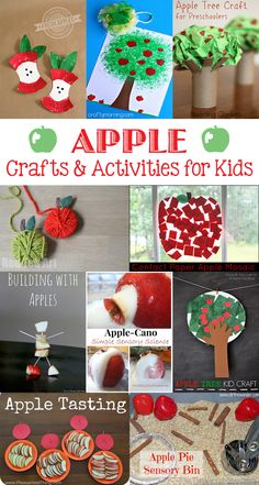 TheInspiredHome.org // 14 Apple Crafts & Activities to celebrate fall. There are autumn apple crafts for babies, toddlers, preschoolers, grade schoolers and big kids!