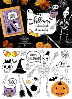 Halloween Clip art collection by lokko studio on @creativemarket