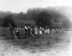 Haymakers at #Langley Burrell c.1894 Lovely rural scene but we bet it was hard work! #throwbackthursday