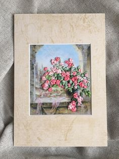 Embroidered picture-Greeting card от MagnaBoutique на Etsy