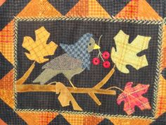 Rugs and Pugs: wool applique