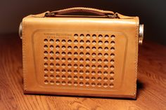 "Vintage Circa 1950's Leather General Electric Radio Bluetooth Speaker ""The…"