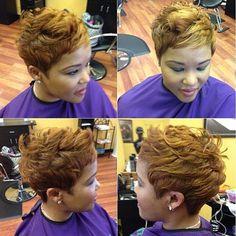 Nice work @_hairapist | #salonstyle #shorthair #haircolor #thecutlife #Padgram