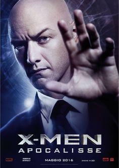 X-Men Apocalypse - Charles Xavier. Italian promo poster.