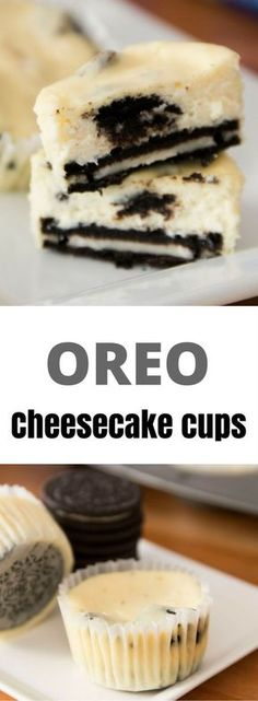 Oreo Cheesecake Cups recipe is easy to make and amazingly delicious. It's also fun to hide the Oreo at the bottom of the cup!This Oreo Cheesecake Cups recipe is easy to make and amazingly delicious. It's also fun to hide the Oreo at the bottom of the cup! Mini Cheesecakes, Food Cakes, Cupcake Cakes, Mini Cupcakes, Oreo Cheesecake Cupcakes, Oreo Cheesecake Recipes, Homemade Cheesecake, Coconut Cupcakes, Oreo Cake