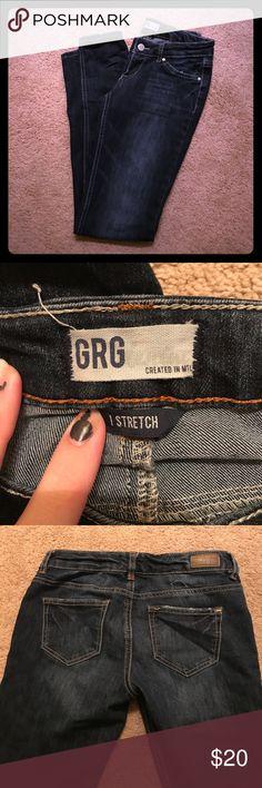Grg stretch dark wash 👖 Low rise skinny jeans.. so comfy grg Jeans Skinny