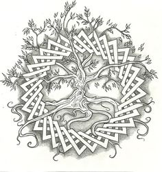 Celtic Tree of Life by vizualassassin Celtic Tattoo Styles Designs - for you laura p Celtic Symbols, Celtic Art, Celtic Knots, Celtic Mandala, Irish Celtic, Celtic Patterns, Celtic Designs, Oroboros Tattoo, Celtic Tree Of Life