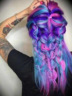 Galaxy Hair - There are simply not enough words to express the love we have for this crazy, colorful and absolutely beautiful look.
