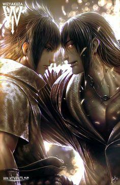 Sasuke and Itachi by wizyakuza art
