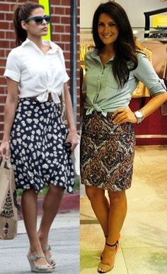 Love the look on the right. I need more pencil skirts.