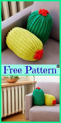 Beautiful Crochet Cactus Pillow – Free Patterns #freecrochetpattern #pillow