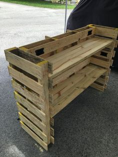 Pallet Bar, Superb Quality, Attention To Detail. 64X22X42 , Includes Top, Prep Shelve & Storage Shelve, Includes Powered Coated Foot Rest. ( Un-Finished ). Ready To Stain. Bars Are Made From New Dual Entry Pallets Made By A Pallet Manufacturer For The Construction Industry, These Bars Will Complement Any Area Of Your Home. ( Electrical Outlets & Interior Lights Can Be Added For Additional Charge ). $189.50. Dont Delay, Order Yours Today. ...Bottom Boards Are Made For Moving During…