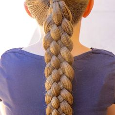 """Big 5 Strand Braid on Quinn today 👱🏼♀️You can find the complete tutorial on my new """"On Hair With Erin"""" App 😊 Hope everyone's having a great weekend! 5 Strand Braids, Big 5, Hair Videos, Hair Inspo, Braided Hairstyles, Dreadlocks, App, Hair Styles, Beauty"""