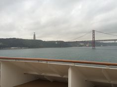 From Neil and Jans balcony - cruising out of Lisbon
