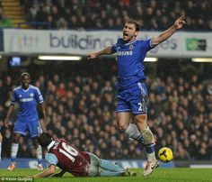 tackle from Mark Noble  to Ivanovic #CFC