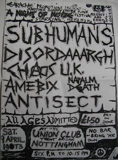 Subhumans, Chaos UK and Amebix