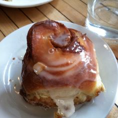 Best cinnamon bun in Brooklyn, NY from Mile End.