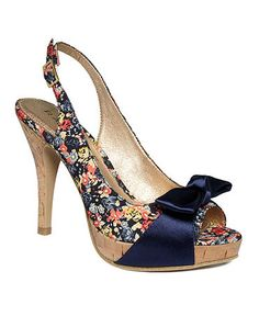 """Looking for floral heels with blue in them for my """"something blue."""" LOVE these :) funny that I'm picking out shoes before my dress..."""