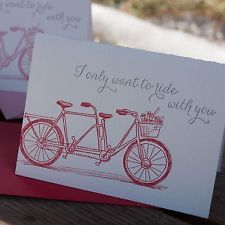Ladybug Press: Love Tandem Bike Letterpress Card & Envelope,...