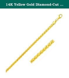 14K Yellow Gold Diamond-Cut Rope Round Franco Ladies Best Choice Bracelet,Simulated. 14K Yellow Gold Diamond-Cut Rope Round Franco Ladies Best Choice Bracelet Why Us: We our dedicated to provide Amazon customers with excellent service and good quality products. Our mission statement is to bring only the most stylistic Ladies Jewelry with extreme protection to the market. We pride ourselves in offering only the highest in quality so please order with confidence: Being an authorized seller...