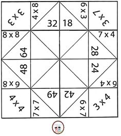 SOS PROFESSOR-ATIVIDADES: Tabuada em Vai e Volta de Origami Multiplication Games For Kids, Maths Puzzles, Math Games, Teaching Tools, Teaching Math, Printable Board Games, Montessori Math, Math Work, 2nd Grade Math