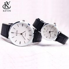 KEVIN KV Fashion Couple Watch Leather Men Women Watches Students Gift Present Simple Quartz Wrist Watch Girls Boys Outfit Accessories From Touchy Style Cheap Watches For Men, Stylish Watches, Best Affordable Watches, Most Popular Watches, Couple Watch, Fashion Couple, Fashion Watches, Leather Men, Michael Kors