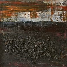 Koen Lybaert - abstract N° 758 [Coal VII] - oil and coal on canvas [80 x 80 x 2] / 2013