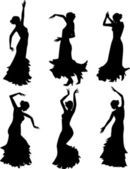 Seis siluetas de baile flamenco — Ilustración de stock #36019939 Dancer Silhouette, Woman Silhouette, Black Silhouette, Dance Crafts, Spanish Dancer, Female Dancers, Flamenco Dancers, Dance Art, Acrylic Art