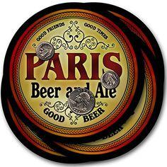 Paris Beer & Ale - 4 pack Drink Coasters ZuWEE…
