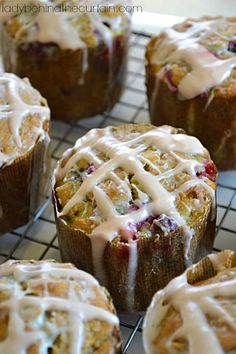 Cranberry Oatmeal Orange and Spice Tea Muffins - Lady Behind The Curtain