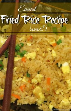 A Delicious Fried Rice Recipe. SERIOUSLY Simple! (tested 11-10-13) #Shop #Cbias #STAROliveOil