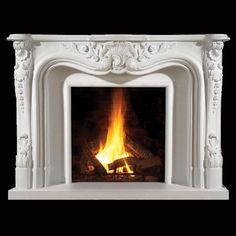 Fireplace Mantels for sale in the USA and Canada. Choose yours among our prestigious collection or create a - one-of-kind - custom chimney mantel for your home. Hearth Stone, Fireplace Mantel Surrounds, Stone Fireplace Mantel, Stacked Stone Fireplaces, Simple Fireplace, Fireplace Update, Library Fireplace, Stone Veneer Panels, Mantels