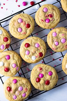 Soft M&M Cookies - the perfect balance of soft, slightly chewy cookies with the crunch of an M&M shell with melty chocolate inside. A quick, one bowl, small batch cookie recipe!   Fork in the Kitchen