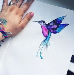 New tattoo watercolor sketch paintings 50 Ideas The post New tattoo watercolor sketch paintings 50 Ideas appeared first on Best Tattoos. Feather Tattoos, Leg Tattoos, Flower Tattoos, Body Art Tattoos, Cool Tattoos, Hummingbird Tattoo Watercolor, Hummingbird Art, Watercolor Tattoo, Colorful Hummingbird Tattoo