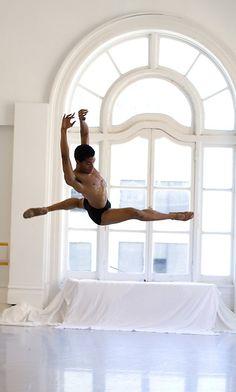 Male dancer - leap in front of window - http://abouttestosterone.net/testofuel-review