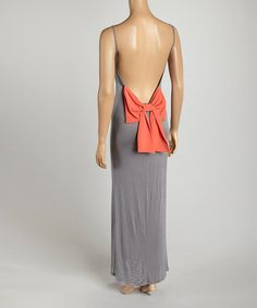 Look what I found on #zulily! Gray Bow Maxi Dress by SOB Clothing #zulilyfinds 12.99