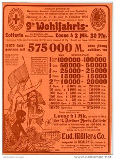 Original-Werbung/Inserat/ Anzeige 1902 - 1/1 SEITE - 9. WOHLFAHRTS-LOTTERIE / MÜLLER BERLIN ca.190 x 280 mm