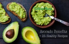 Benefits of Avocado (and 25 Avocado Recipes)  There are many health benefits of avocado because of its healthy fats and vitamins. Try these 25 delicious and healthy ways to eat them!