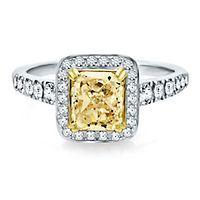 2 5/8 ct. tw. Yellow & White Diamond Engagement Ring in 14K & 18K Gold