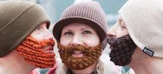 Beard Beanie   The Original Knitted Beard Hat with Crochet Beards