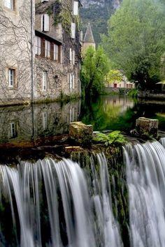 Waterfall, Florac, France |