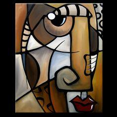 Stylisé  Résumé Original peinture moderne pop Art par fidostudio, $399.00