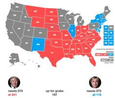 """Hillary Clinton Wins Virginia and North Carolina is Leaning Trump. """"Trump is still Redrawing the Map."""""""