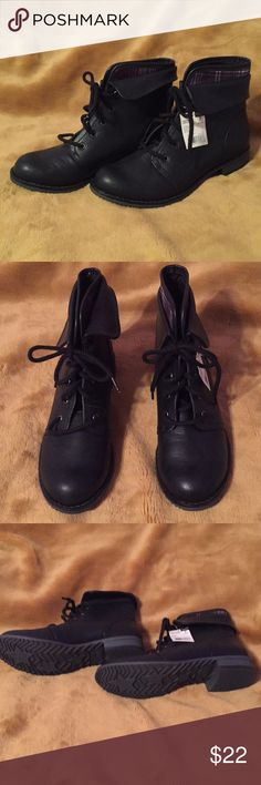 New Route 66 black lace up boots NWT Route 66 black lace up boots. Size 7. Can be worn with jeans or dress pants. Route 66 Shoes Lace Up Boots