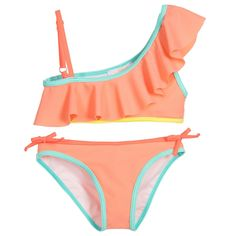Chloé Girls Orange Bikini at Childrensalon.com