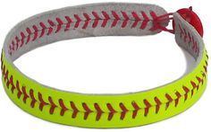 This is a diy softball bracelet and i already have one like this for the detroit tigers, it is falling apart and i wanted a new one and this looks pretty cool soooo ya