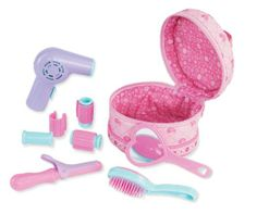 Amazon.com: Kidoozie My First Beauty Bag: Toys & Games - Beauty Bag (curlers, makeup, mirror, brush, hair dryer)